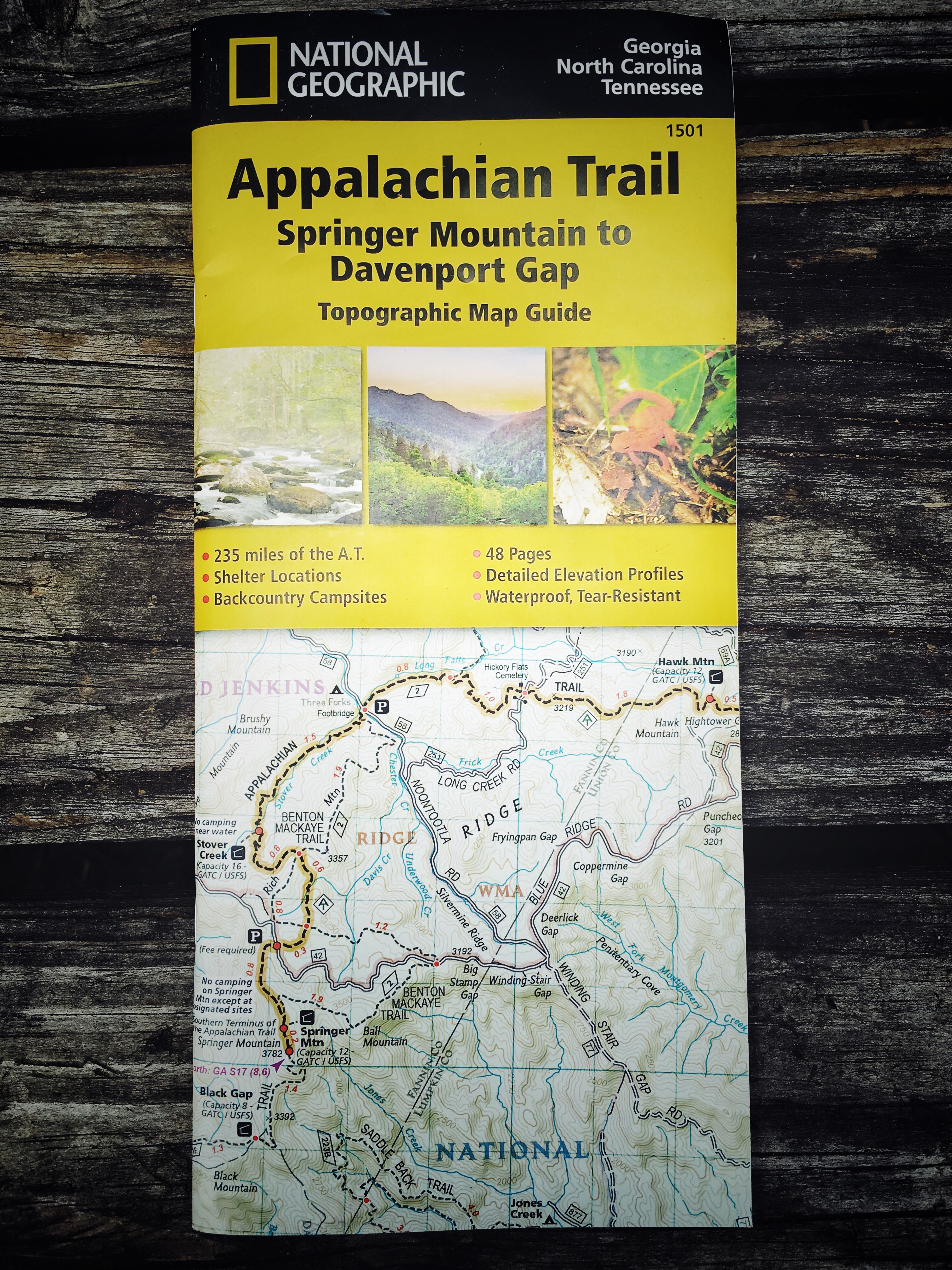 National Geographic Appalachian Trail Maps Review - Hike & Tell